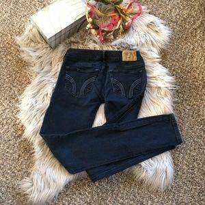 Hollister Socal Stretch Skinny Jeans Navy Blue